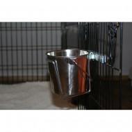 Kyblík 1 litr s úchytem s držáky na dvířka kotce.