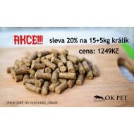 SLEVA 20%-KRÁLÍK 23,9/13 - Naturis PRESSED RABBIT 15kg+5kg