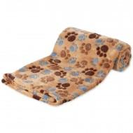 Extra měkká flísová deka s packami